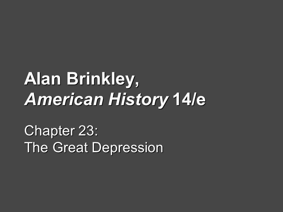 American History Essay - The Great Depression?