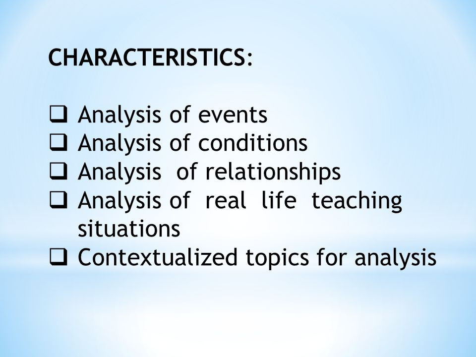 an analysis of relationship A case study of student and teacher relationships and the effect on student learning patricia brady gablinske the resulting analysis and interpretation provided a.