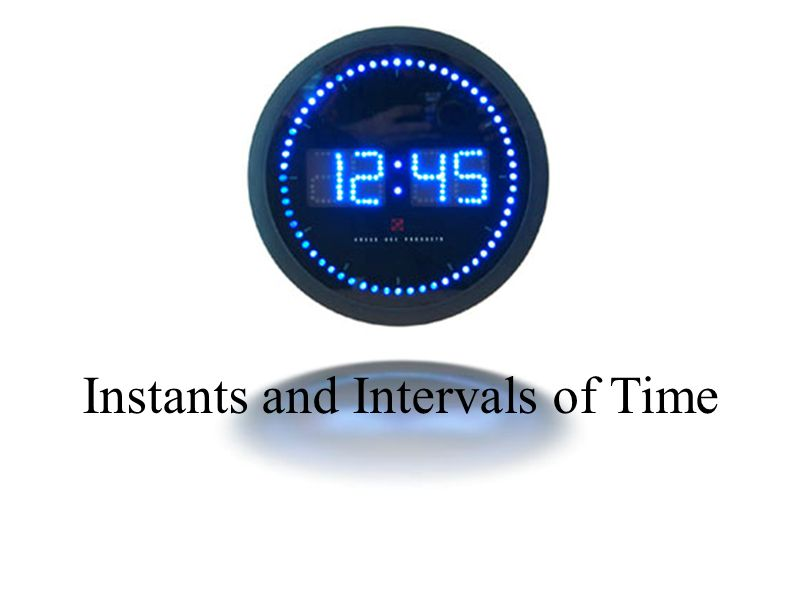 Instants and Intervals of Time