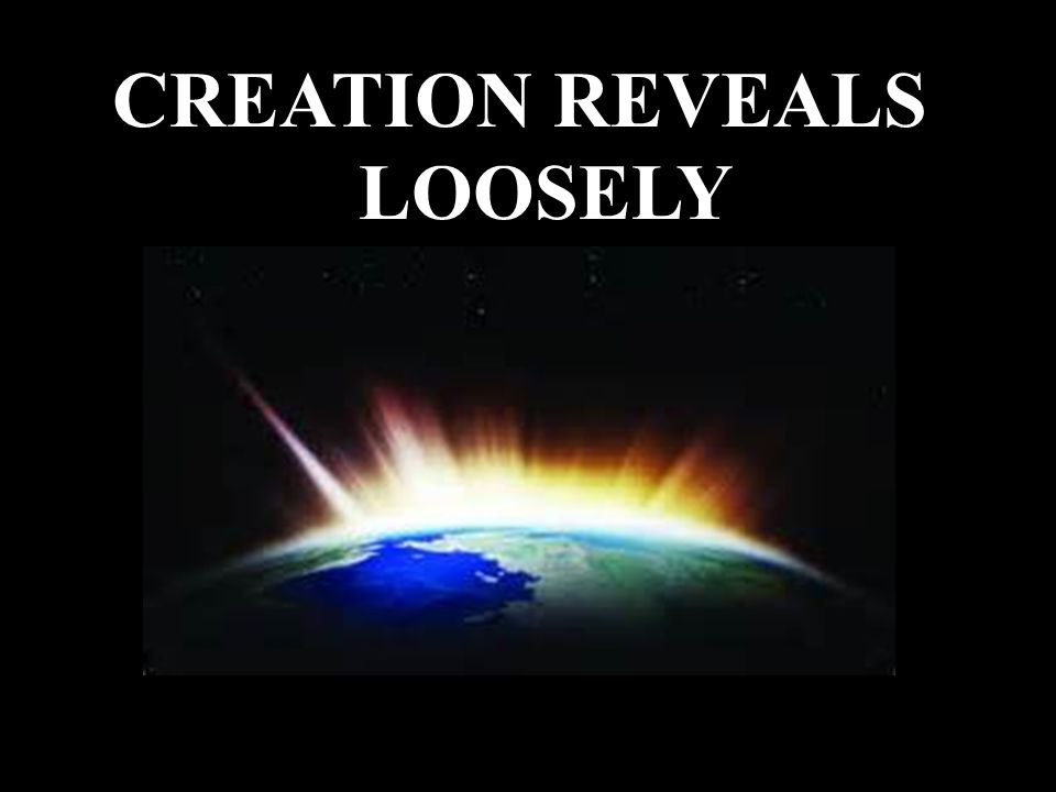 CREATION REVEALS LOOSELY