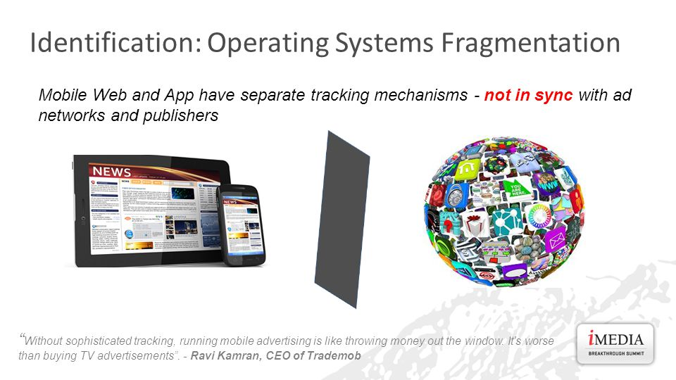 Identification: Operating Systems Fragmentation Without sophisticated tracking, running mobile advertising is like throwing money out the window.