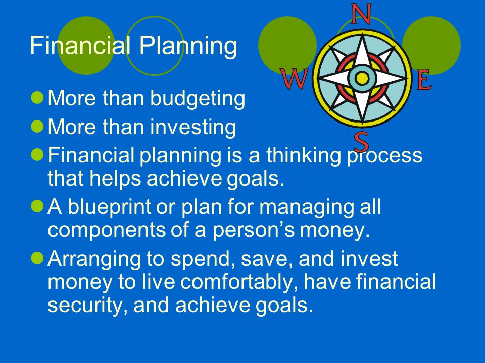 Financial planning more than budgeting more than investing more than budgeting more than investing financial planning is a thinking process that helps achieve goals malvernweather Image collections