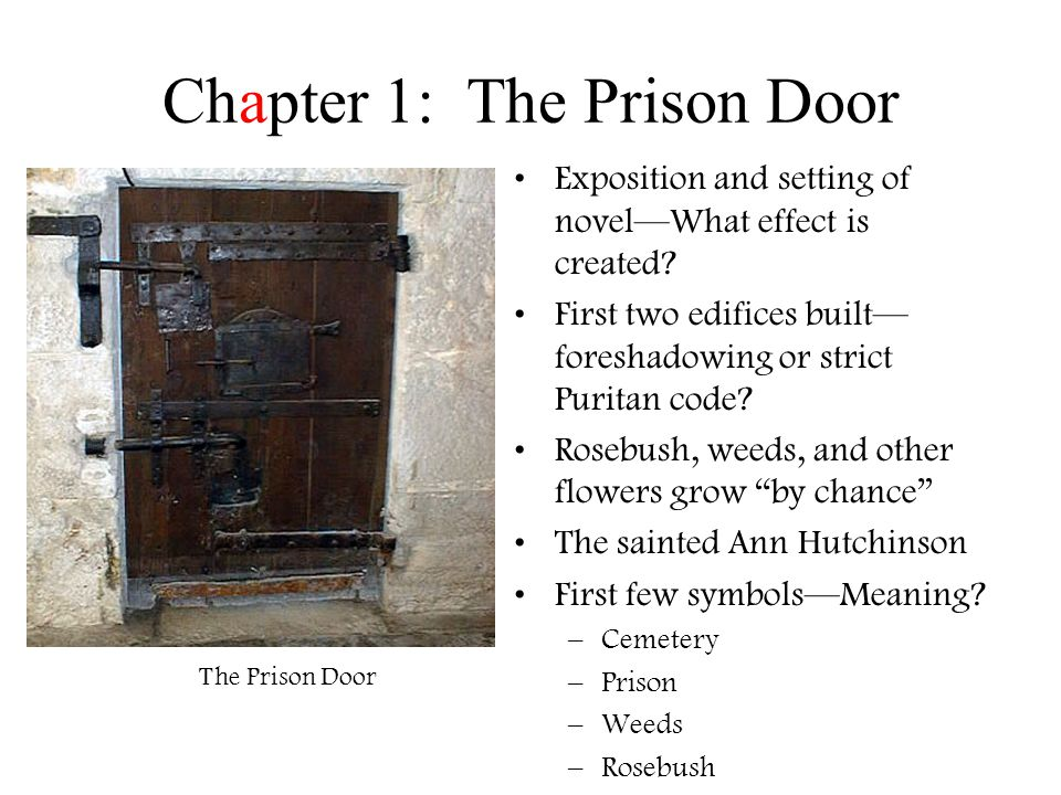 the scarlet letter by nathaniel hawthorne. chapter 1: the prison