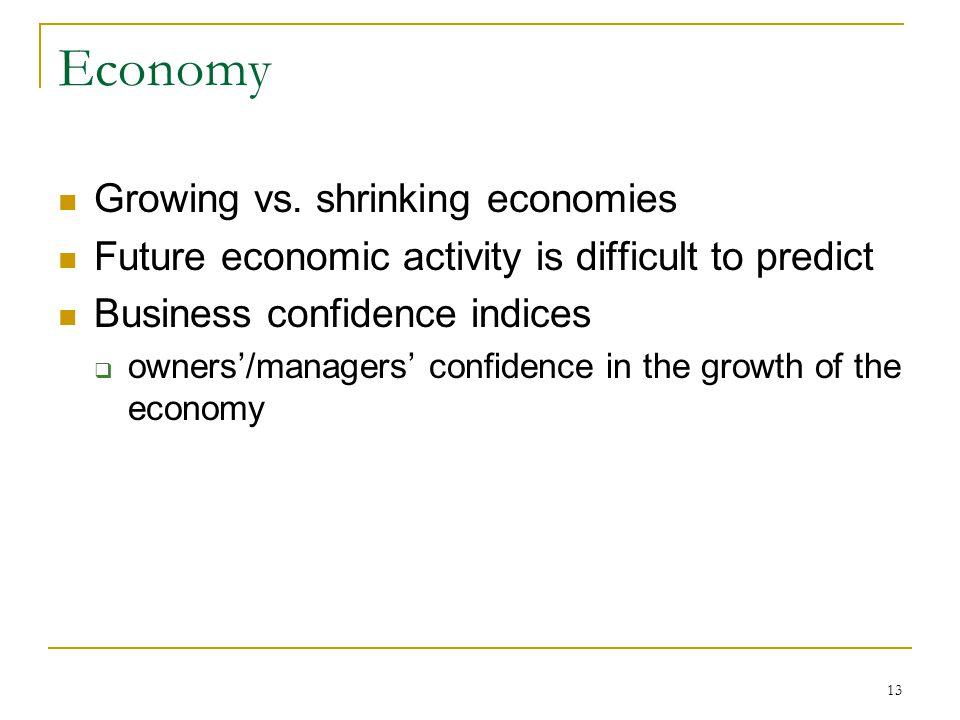 13 Economy Growing vs.