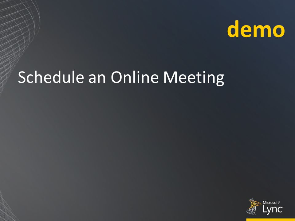 Schedule an Online Meeting demo