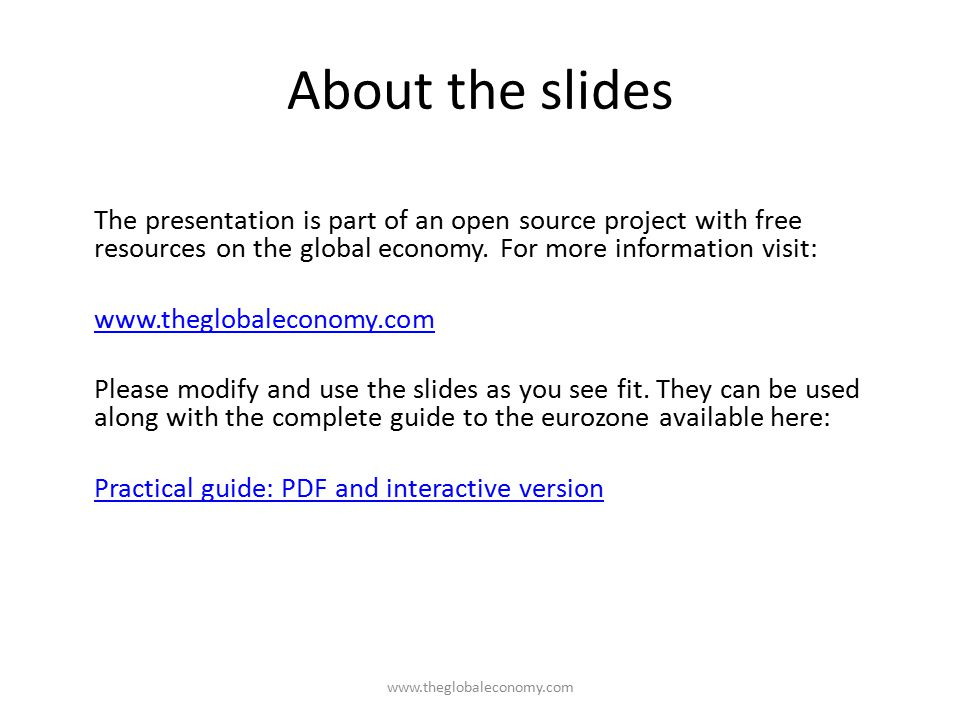About the slides The presentation is part of an open source project with free resources on the global economy.