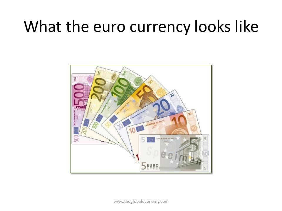 What the euro currency looks like www.theglobaleconomy.com