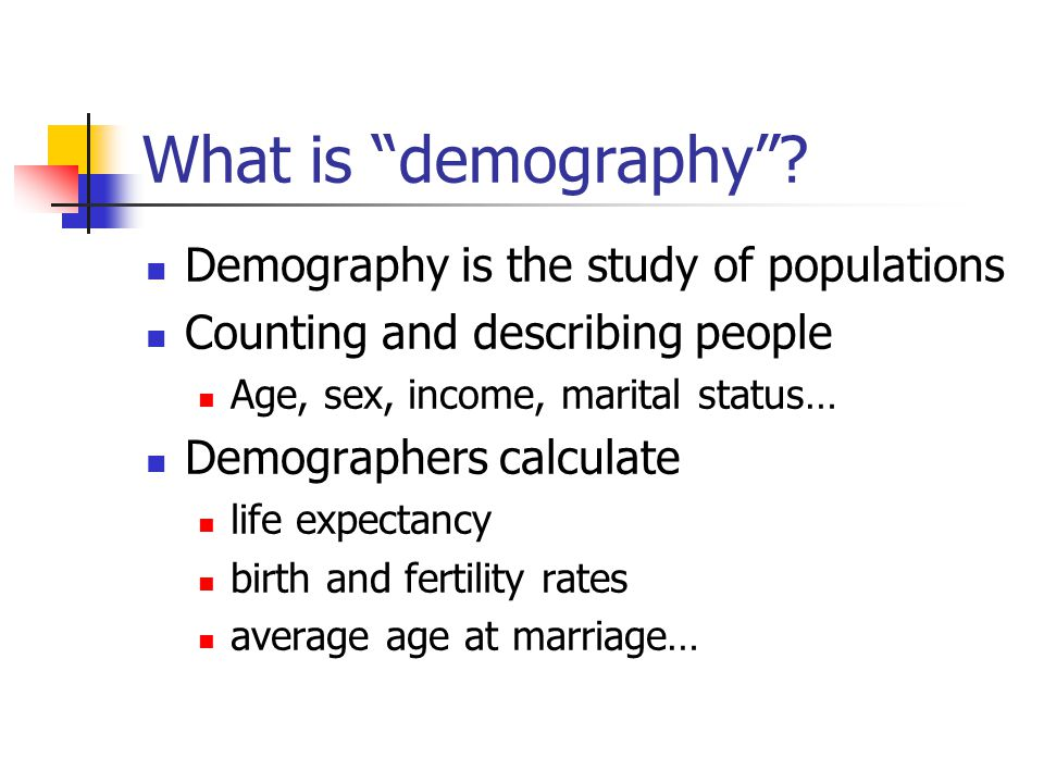 What is demography .