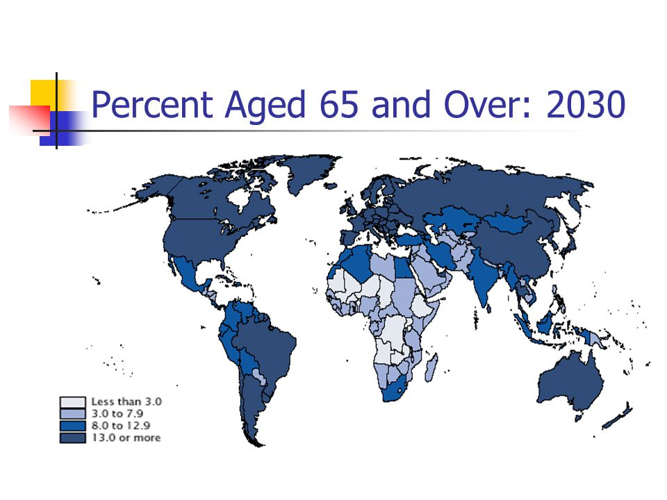 Percent Aged 65 and Over: 2030
