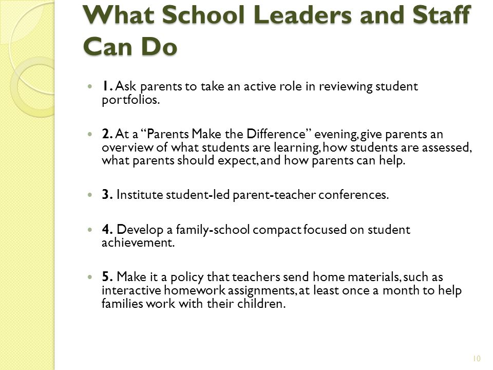 What School Leaders and Staff Can Do 1.