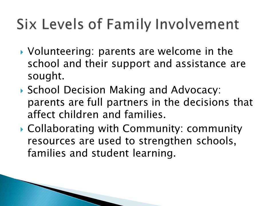  Volunteering: parents are welcome in the school and their support and assistance are sought.