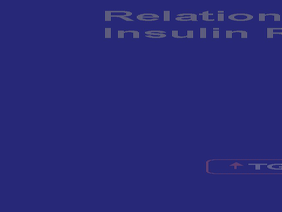 Relationship Between Obesity and Insulin Resistance and Dyslipidemia