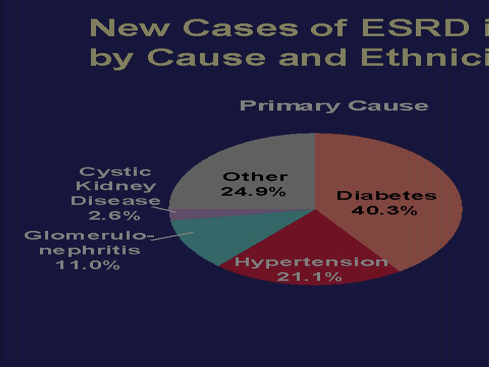 New Cases of ESRD in the United States by Cause and Ethnicity, 1998