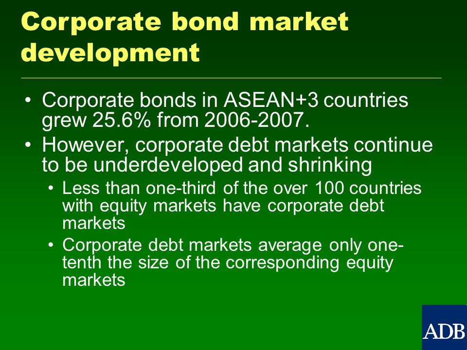 Corporate bonds in ASEAN+3 countries grew 25.6% from