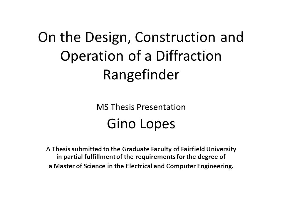 ms thesis presentation