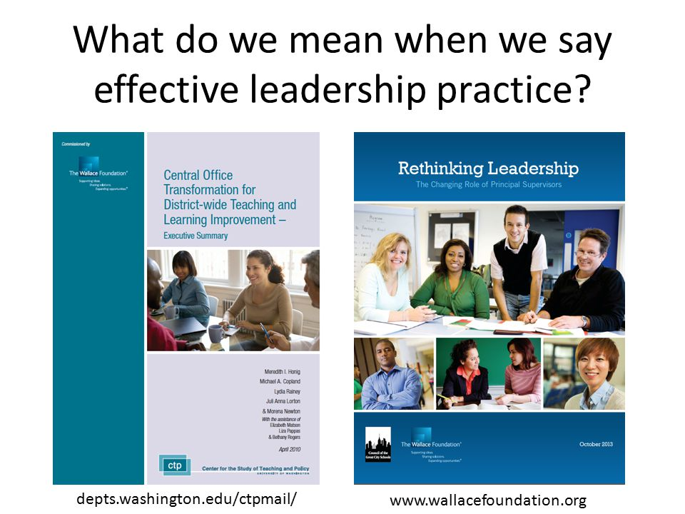 What do we mean when we say effective leadership practice.