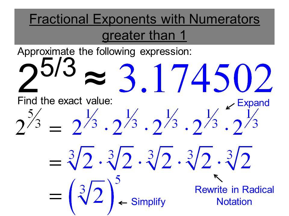 Radicals Fractional Exponents Worksheet simplifying radical – Adding and Subtracting Exponents Worksheets