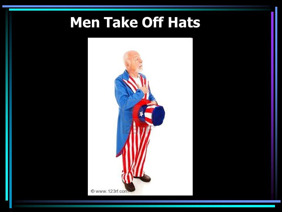 Men Take Off Hats