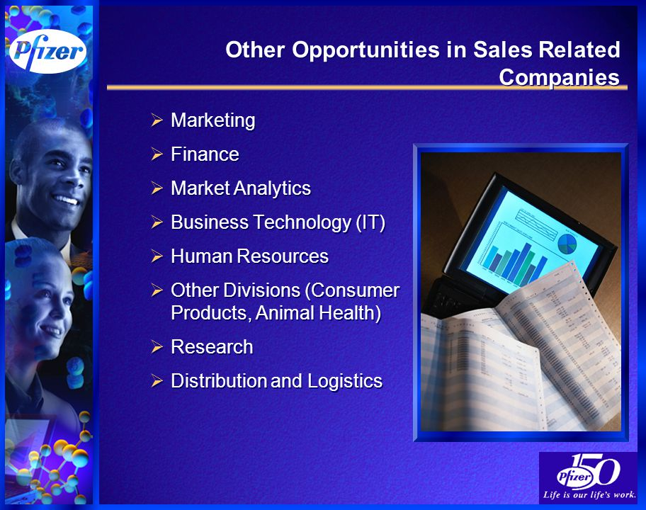 Other Opportunities in Sales Related Companies  Marketing  Finance  Market Analytics  Business Technology (IT)  Human Resources  Other Divisions (Consumer Products, Animal Health)  Research  Distribution and Logistics  Marketing  Finance  Market Analytics  Business Technology (IT)  Human Resources  Other Divisions (Consumer Products, Animal Health)  Research  Distribution and Logistics