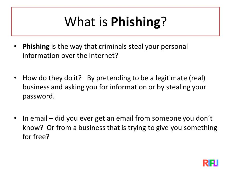 What is Phishing.