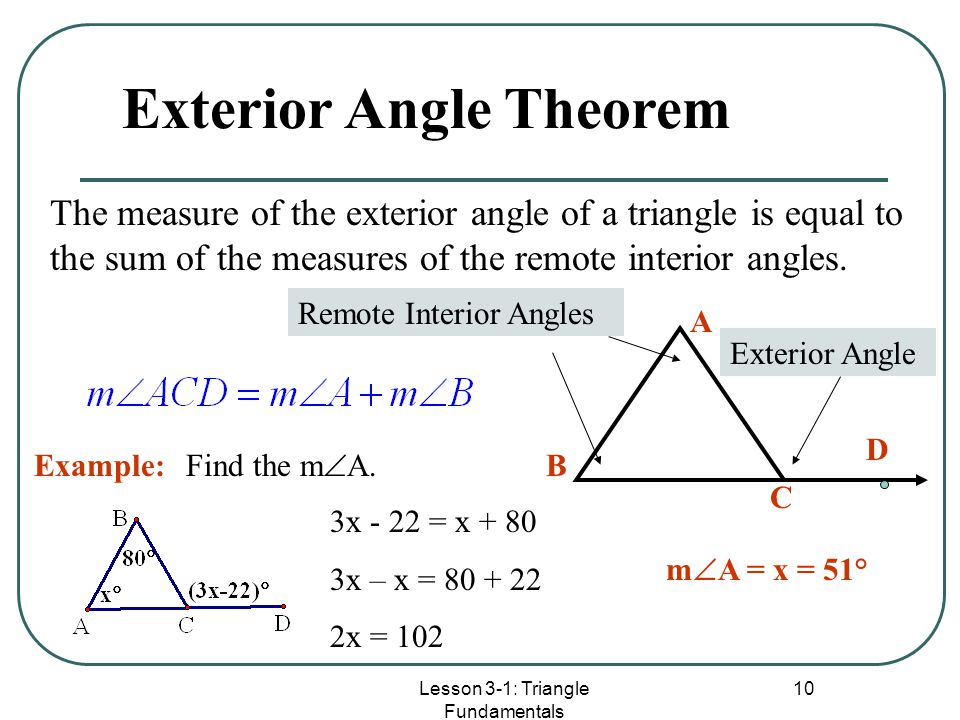 Worksheet: Triangle Angle Sum Theorem - Classifying Triangles ...