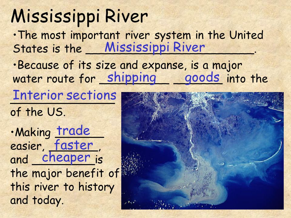 The most important river system in the United States is the ________________________.
