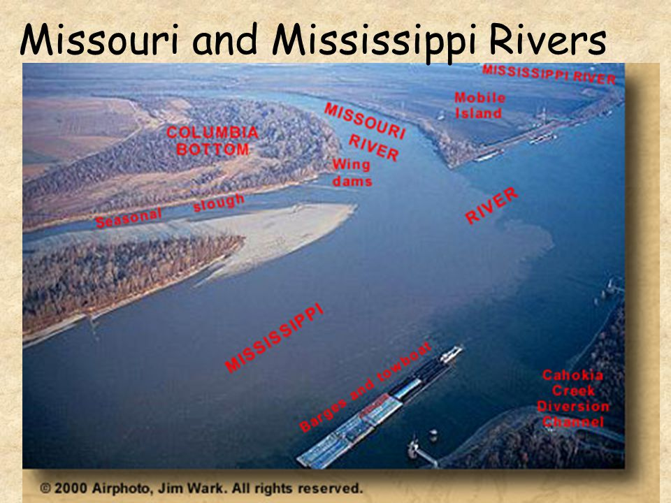 Missouri and Mississippi Rivers