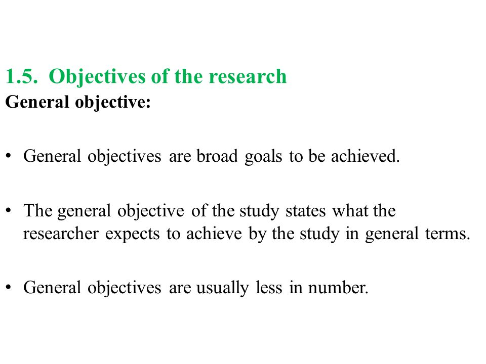 sample thesis objectives of the study