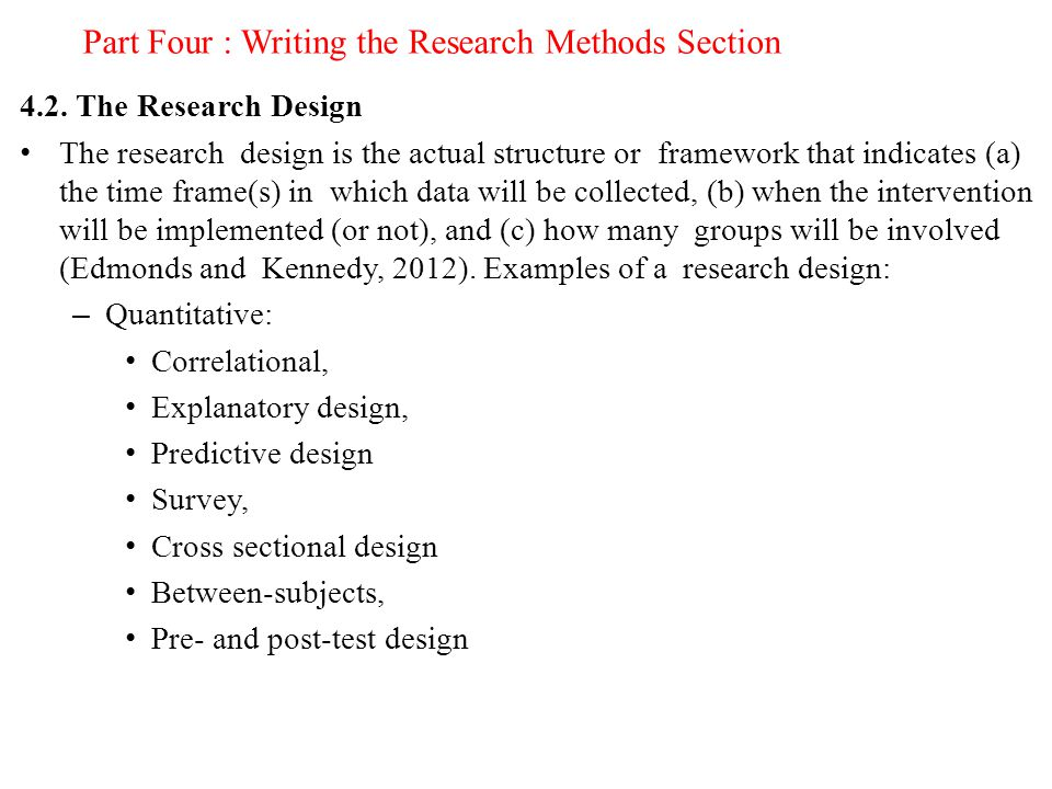 Writing The Methodology Section Of A Dissertation