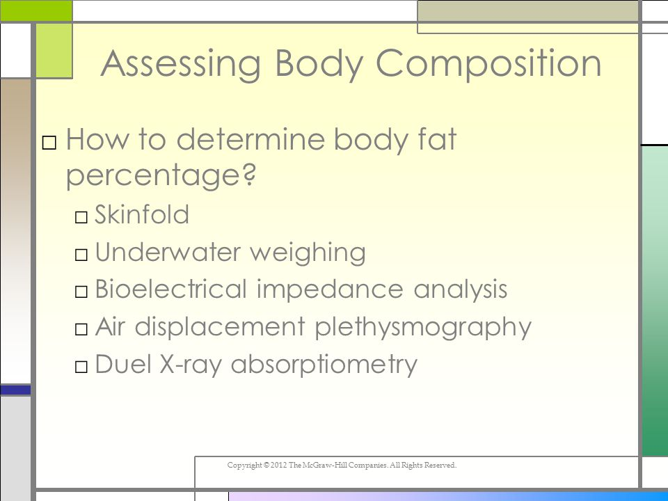 count body fat percentage