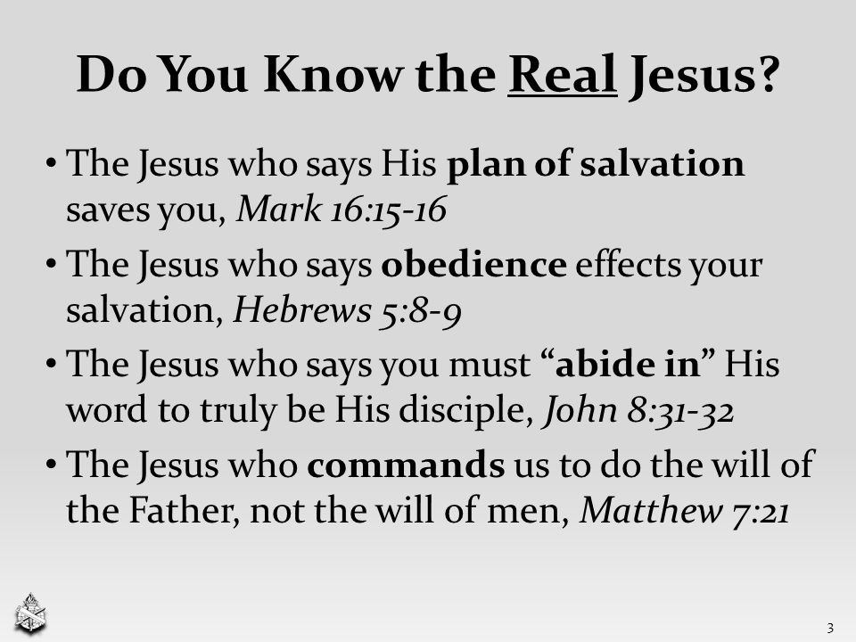 Do You Know the Real Jesus.
