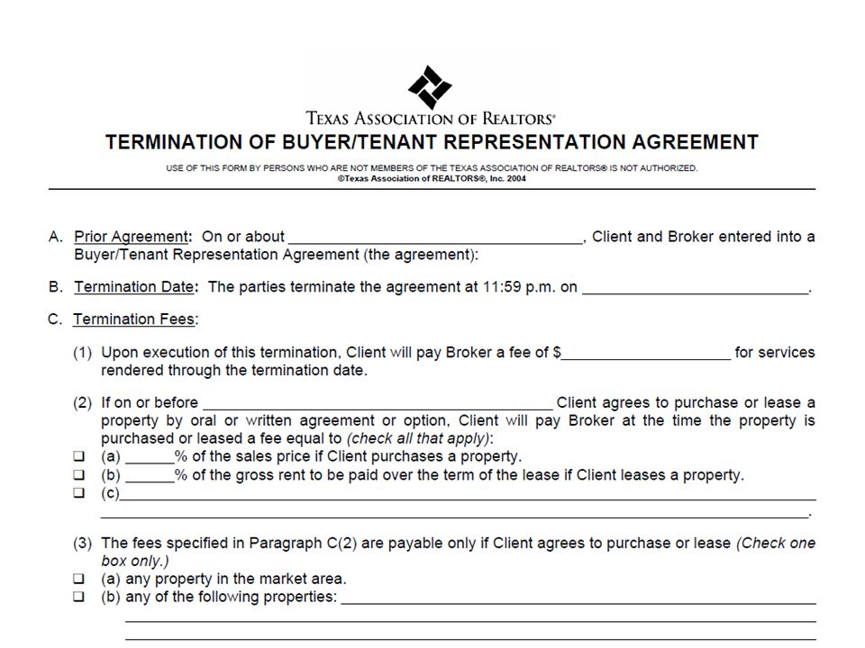 Buyer Representation Agreement Gallery Agreement Letter Format