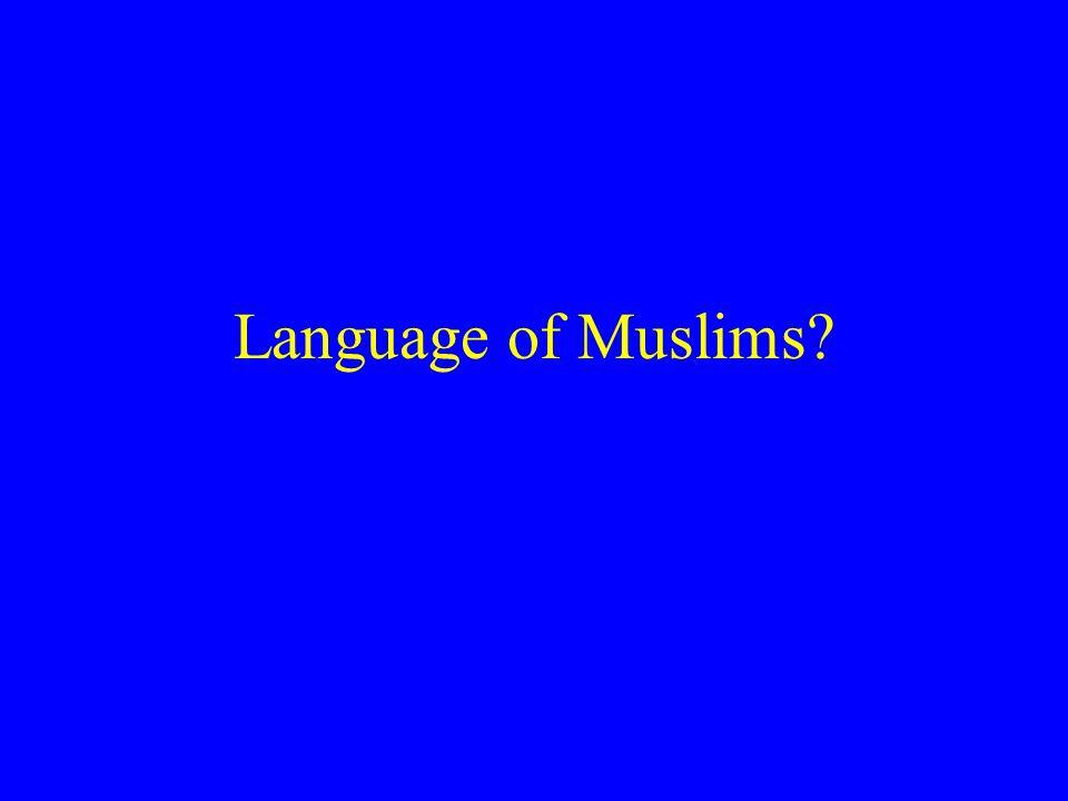 Language of Muslims