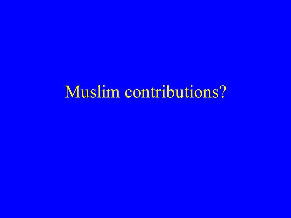 Muslim contributions