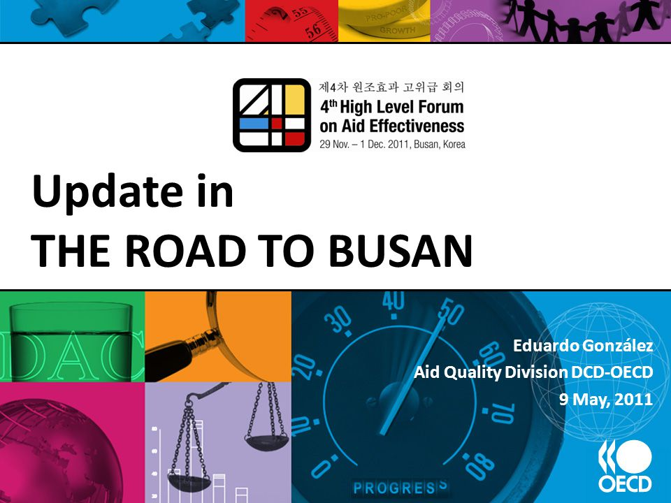Eduardo González Aid Quality Division DCD-OECD 9 May, 2011 Update in THE ROAD TO BUSAN