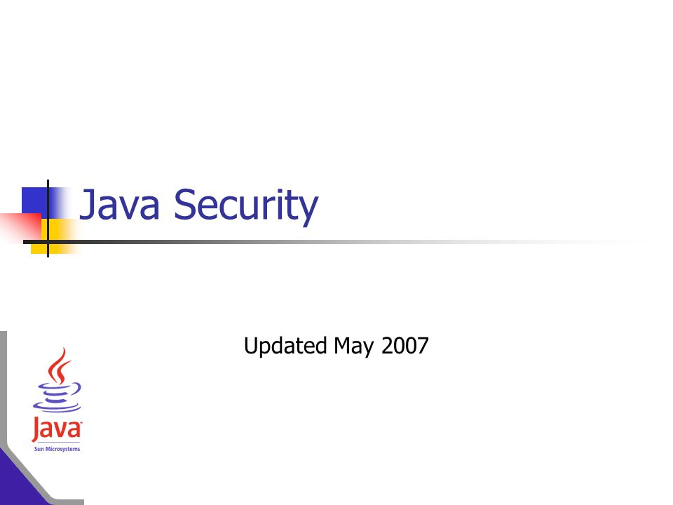 Java Security Updated May 2007