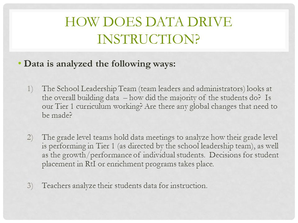 HOW DOES DATA DRIVE INSTRUCTION.