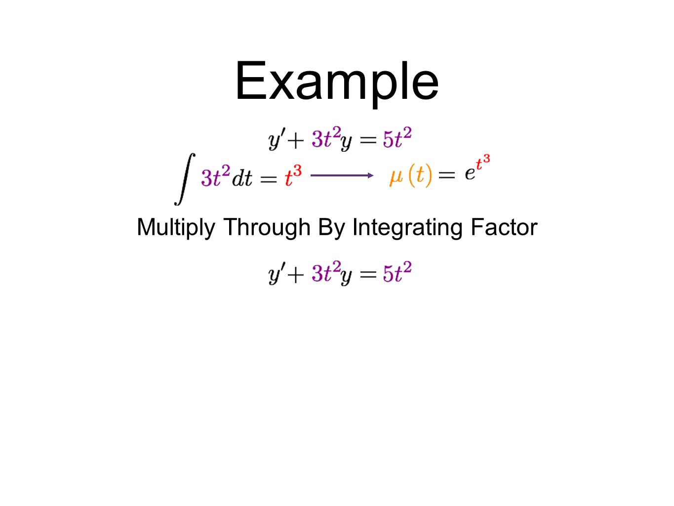 Multiply Through By Integrating Factor