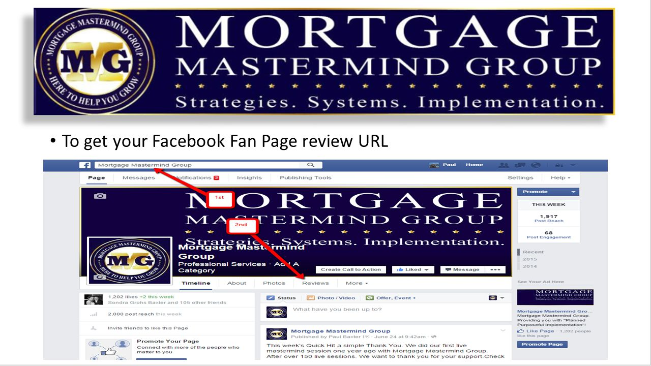 To get your Facebook Fan Page review URL