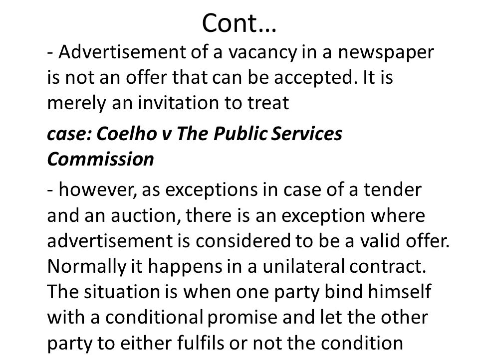 law of contract offer