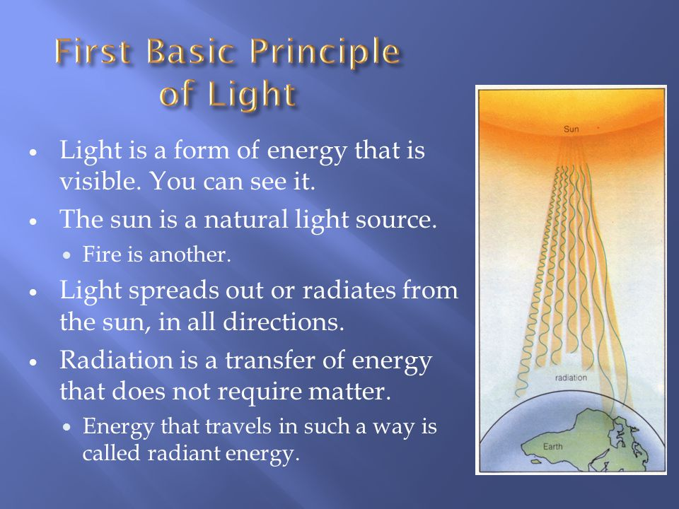 Lesson 2: What is Light?. Light is a form of energy that is ...