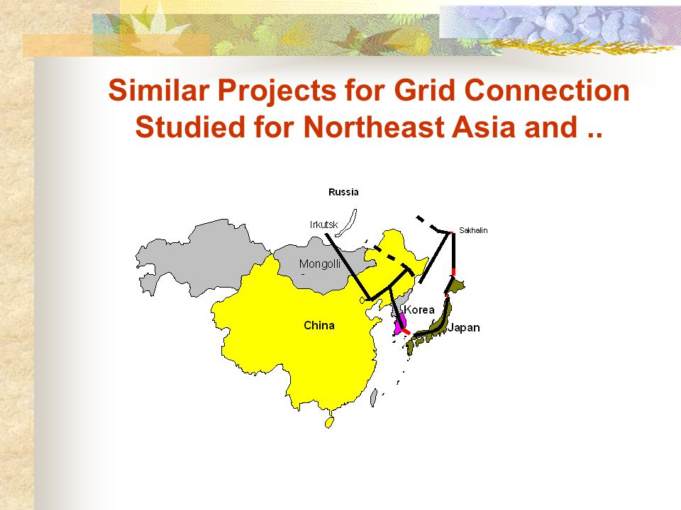 Similar Projects for Grid Connection Studied for Northeast Asia and..