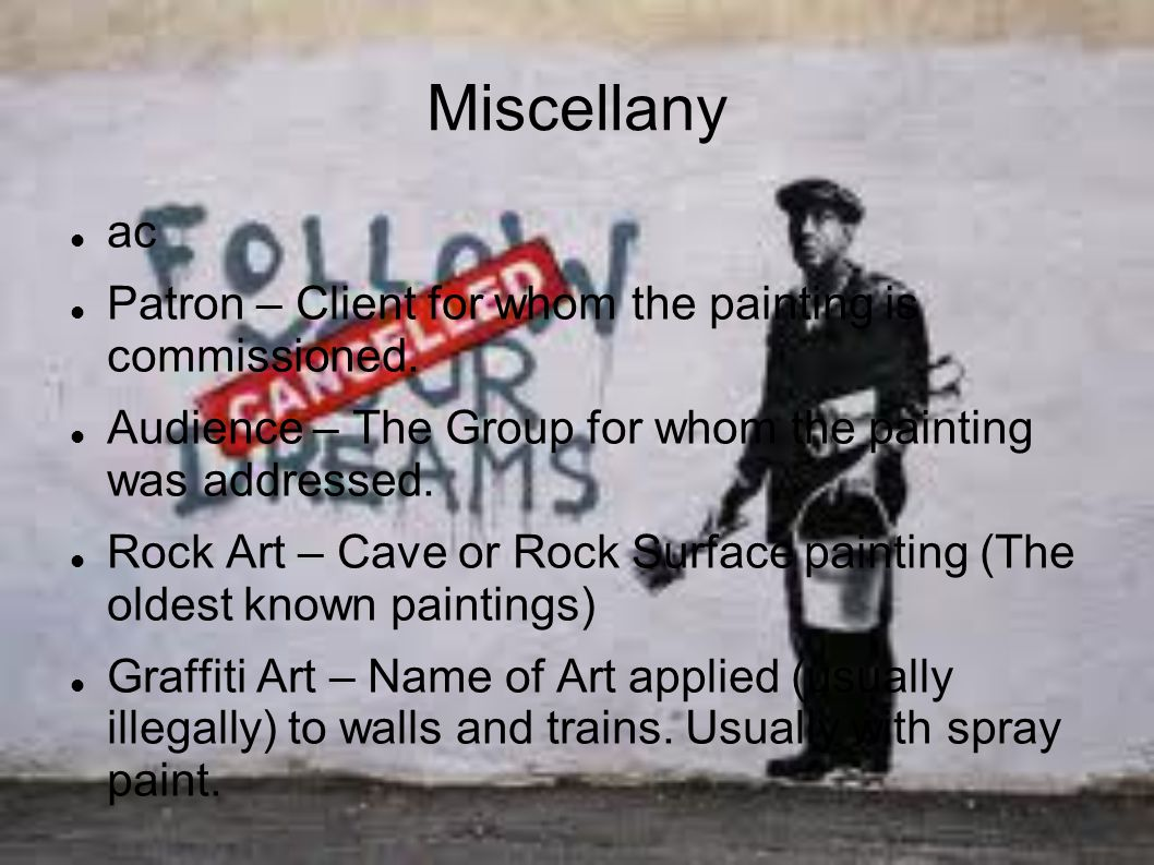 Miscellany ac Patron – Client for whom the painting is commissioned.