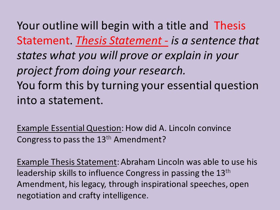 gay pegeants outline and thesis statement The 3-part thesis statement & outline for essays writing a thesis statement is not easy so i've developed this step-by-step guide to help you think about a) what makes a good thesis.