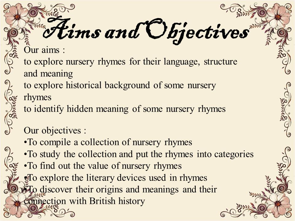 historical background of nursury rhymes essay