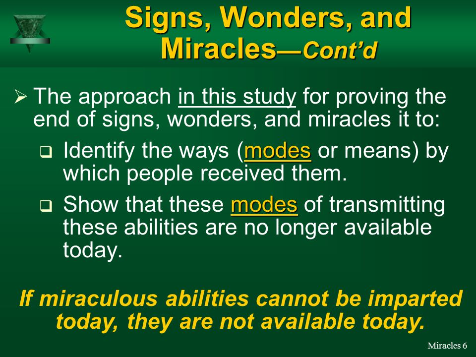 Miracles 5  The Scriptures (I Cor. 13 and Eph.