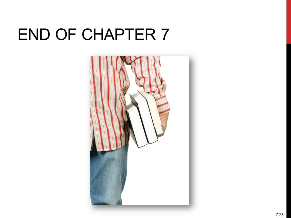 7-23 END OF CHAPTER 7
