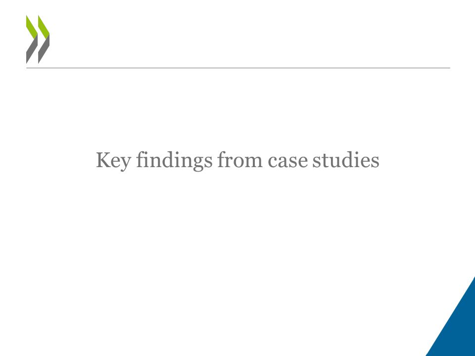 Key findings from case studies