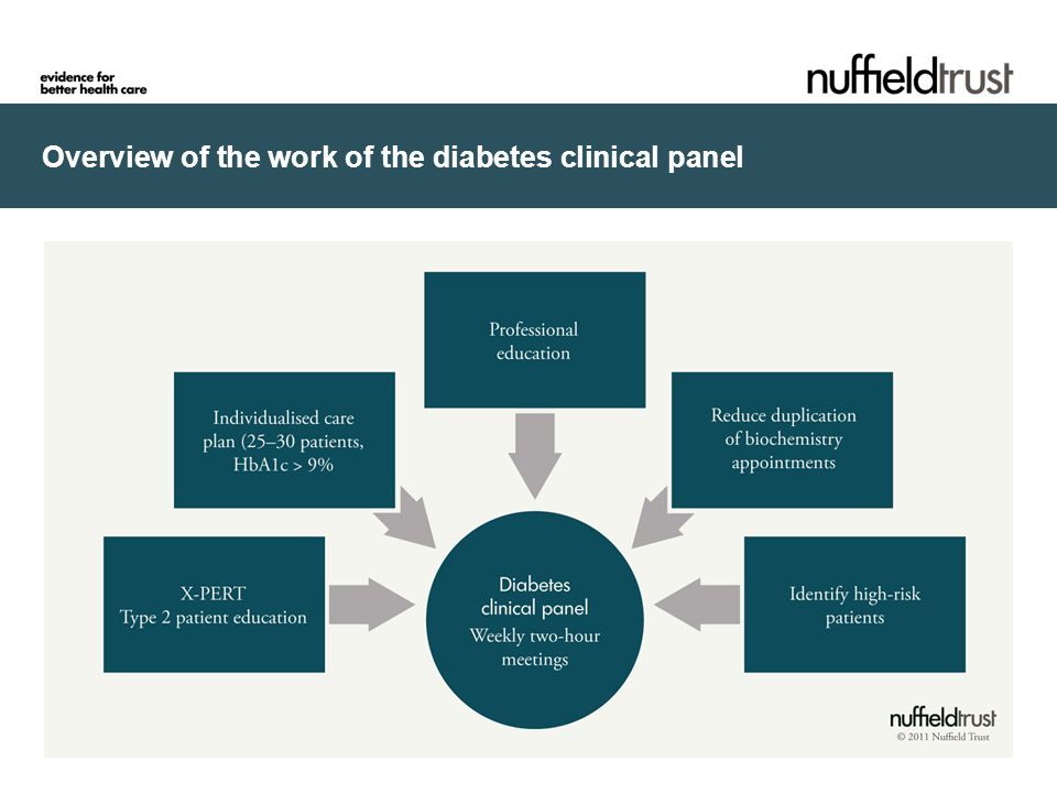 Overview of the work of the diabetes clinical panel