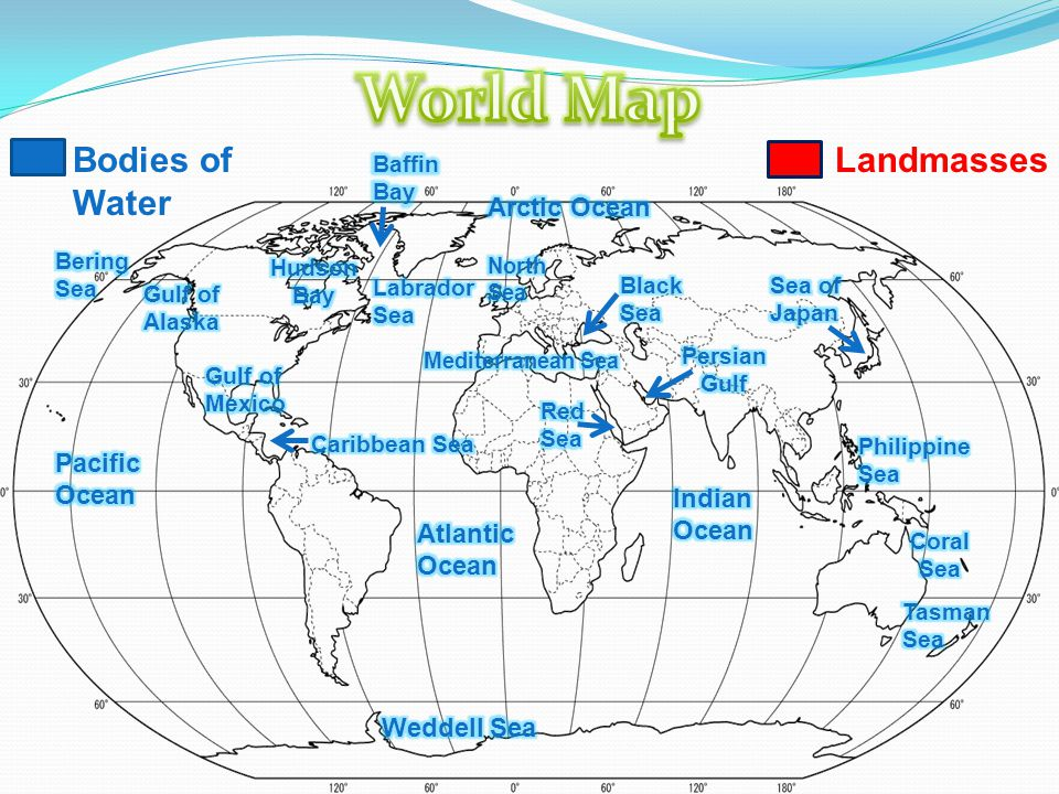Bodies Of Water Landmasses Bodies Of Water Landmasses Ppt Download - Japan map bodies of water